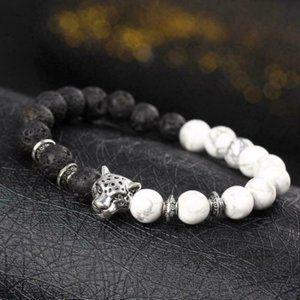 Lion Lava Stone Bracelet